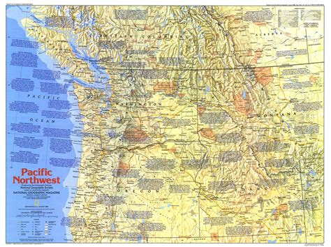map of nw usa pacific northwest map 1986 side 1 maps