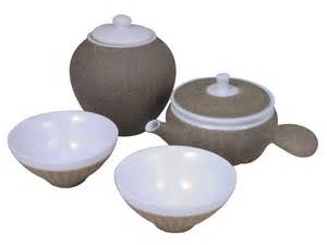 Ceramic Kitchen Canisters Sets Desert Sand Traditional Chinese Tea Set For Two With Canister