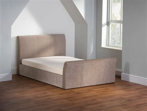 sleigh ottoman bed emporia sovereign 5ft kingsize stone fabric ottoman sleigh