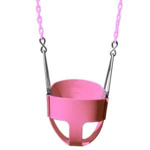 pink baby swing outdoor gorilla playsets pink toddler full bucket swing 04 0008 pk