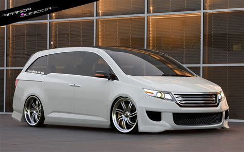 custom honda odyssey pimped minivan bedroom bathroom living kitchen