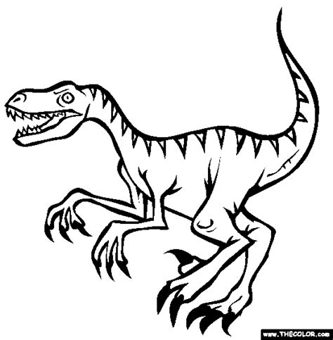 velociraptor coloring page dinosaur coloring pages page 1