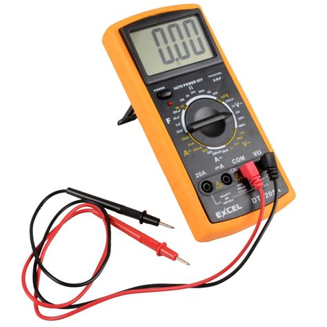 testing capacitors with a voltmeter digital multimeter lcd ac dc automatic range power multimeter ammeter ohmmeter resistance