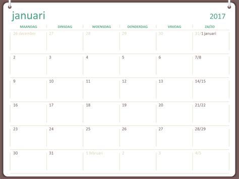 Calendrier Om 2017 Kalender 2017 Ma Zo Twee Ringen Office Templates