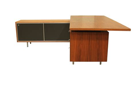 vintage 1960s george nelson executive desk by herman