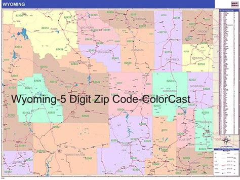 It Only It Were Zip by Wyoming Zip Code Map With Wooden Rails From Onlyglobes