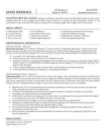 Retail Resume Exle by Resume Objectives For Retail Best Resume Gallery