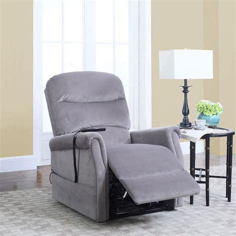 Classic Plush Power Lift Recliner Living Room Chair Grey Grey Living Room Chair