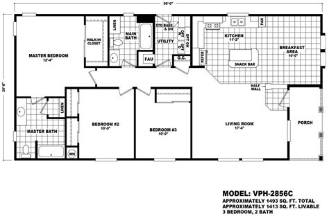 cavco homes floor plans value porch 2856c homes direct