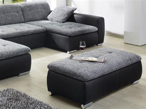 hocker wohnzimmer sofa ferun 365x200 185cm mit hocker anthrazit