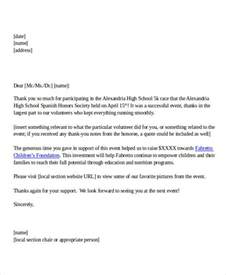 Thank You Letter Template To Volunteers 45 Thank You Letter Exle Templates Free Premium Templates
