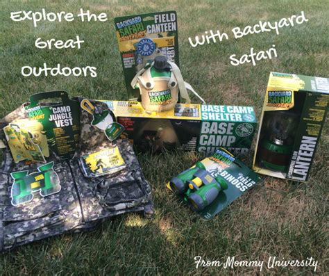 explore the great outdoors with backyard safari