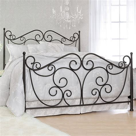 serta fancy scroll king metal bed dark bronze walmart com