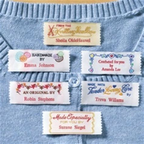 Personalised Handmade Labels - personalized sewing labels quilt