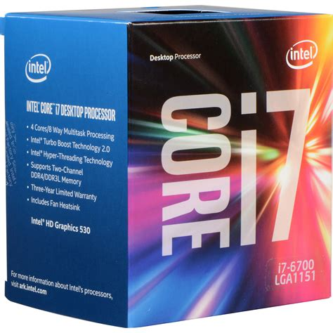 mobile i7 processors intel i7 6700 3 4 ghz processor