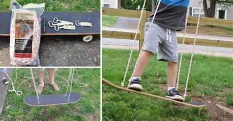 how to make a skateboard swing how to make skateboard swing diy crafts handimania