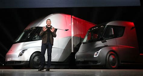 elon musk new truck tesla now has an electric truck go people courier service