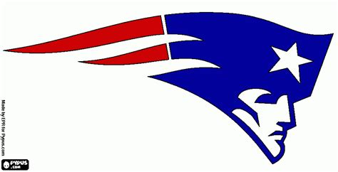 free coloring pages of new england patriots logo