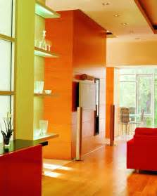 wall interior designs for home eye for design citrus colored interiors