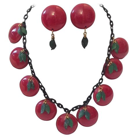 how to make bakelite jewelry bakelite necklace cherry with matching earrings for sale