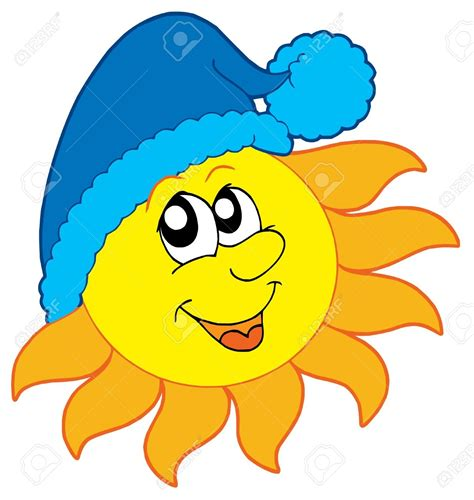 clipart inverno clipart winter sun pencil and in color