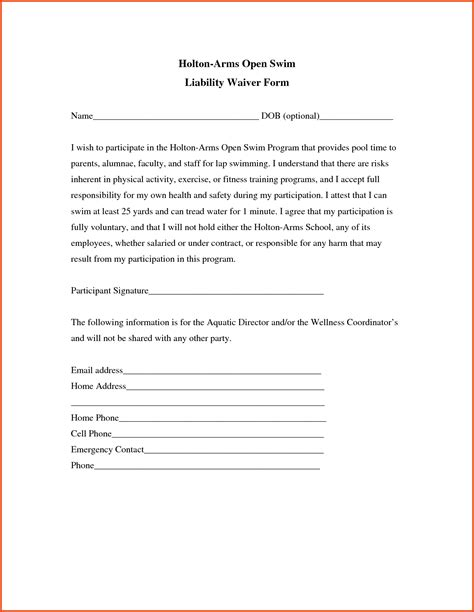 Financial Waiver Letter Bizdoska Page 4 List Maker Free Employee Status Report Template General