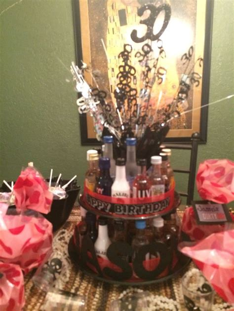 Th  Ee  Birthday Ee   Mini Liquor Bottle Cake Beer And Wine