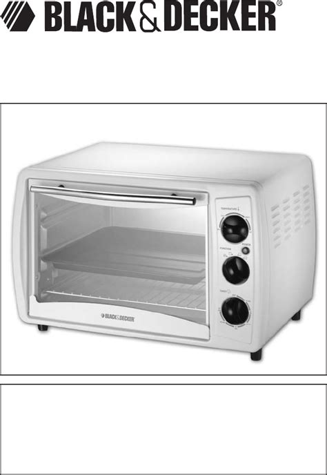 Black Decker Countertop Oven Manual oven toaster manual for black and decker toaster oven
