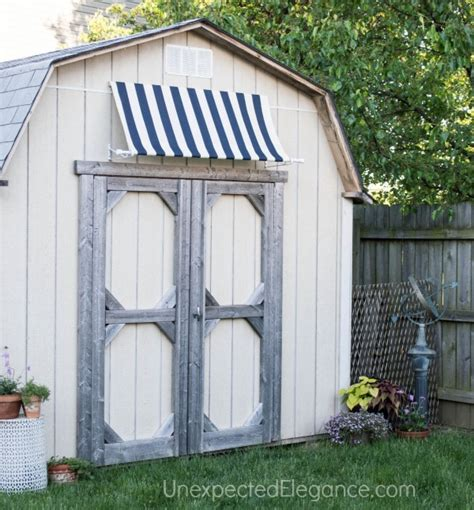 Awning Shed by Diy Shed Awning And Easy Elegance
