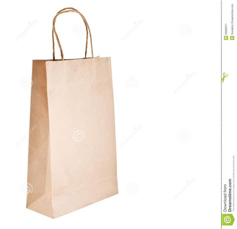 Simple Paper Bag - paper bag on white background stock image image 29966071