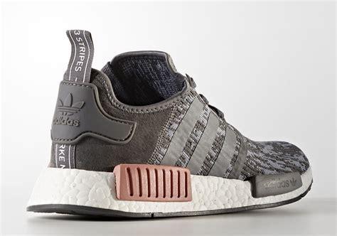 Sepatu Adidas Nmd R1 Womens Grey Pink Premium Quality adidas nmd r1 grey pink by9647 sneakernews