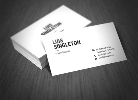 business card clean template design illustrator clean and minimal business card template on behance