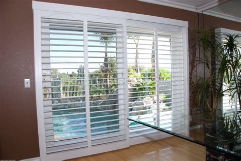 Bypass Shutters For Patio Doors by Clearview Bypass Shutters On A 8 Sliding Glass Door Yelp