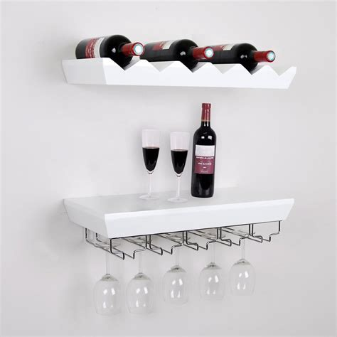 kitchen cabinet with wine glass rack white wooden shelving unit with chrome wire glass