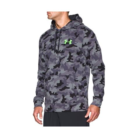 pattern hoodies under armour rival cotton pattern pullover hoodie men s