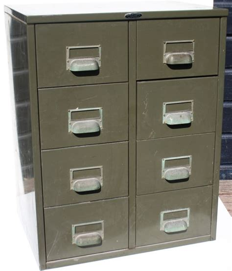 two industrial storage cabinets with 8 drawers charleroi