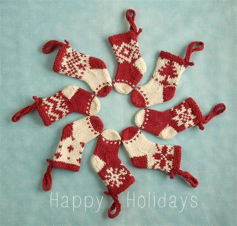 knitting pattern for baby christmas stocking mini christmas stocking ornament knitting pattern by julie