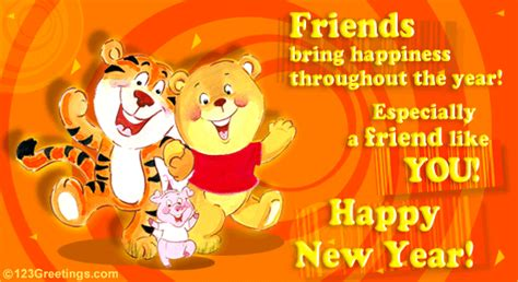 new year wishes for friend happy new year to u free friends ecards greeting cards