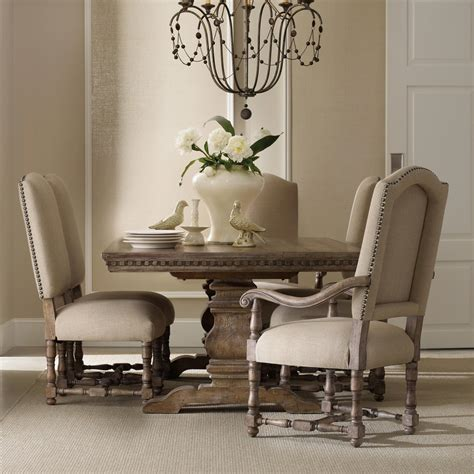 table with upholstered chairs furniture sorella formal dining set with