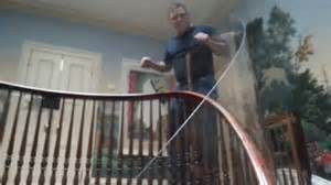 clear banister guard baby proofing with plexi glass island ny