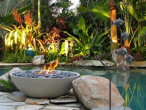 Garten Mit Pool Gestalten 2340 by Miso Firebowl In A Tropical Backyard Paloform