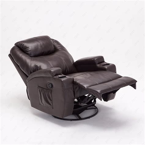 heated reclining sofa recliner sofa chair ergonomic lounge swivel heated w new brown ebay