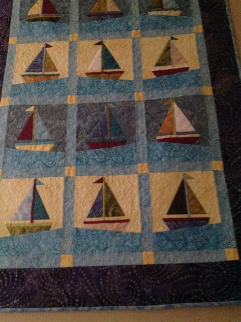 Sail Boat Quilt by 205 Best Images About Sailboat Quilts On Free Pattern Boy Quilts And Boats