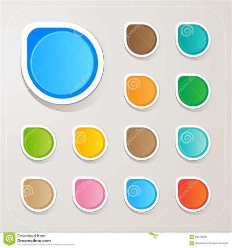 Colorful Set sticker label paper colorful set vector illustration cartoondealer 38221894
