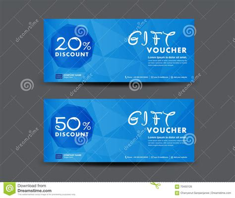 design a gift certificate template free blue discount voucher template coupon design ticket