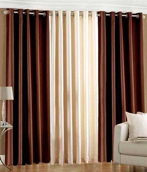 chocolate colored curtains white wave set of 3 door eyelet curtains solid multi color