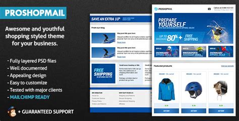 themeforest email templates proshopmail e mail template by b4rr13 themeforest