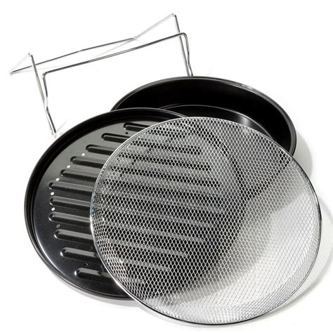 Cook Bake Pan Holder Khaki sharper image wave oven grilling accessories