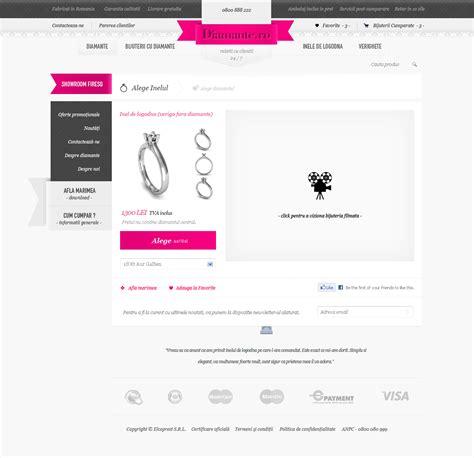web layout jewellery diamonds website layout design