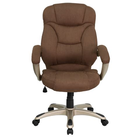 brown microfiber office chair high back brown microfiber upholstered contemporary office